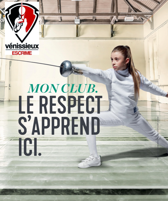 affiche epee campagne rentree 2018 venissieux logo